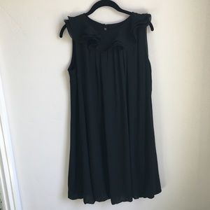 Ruffle neck sleeveless dress